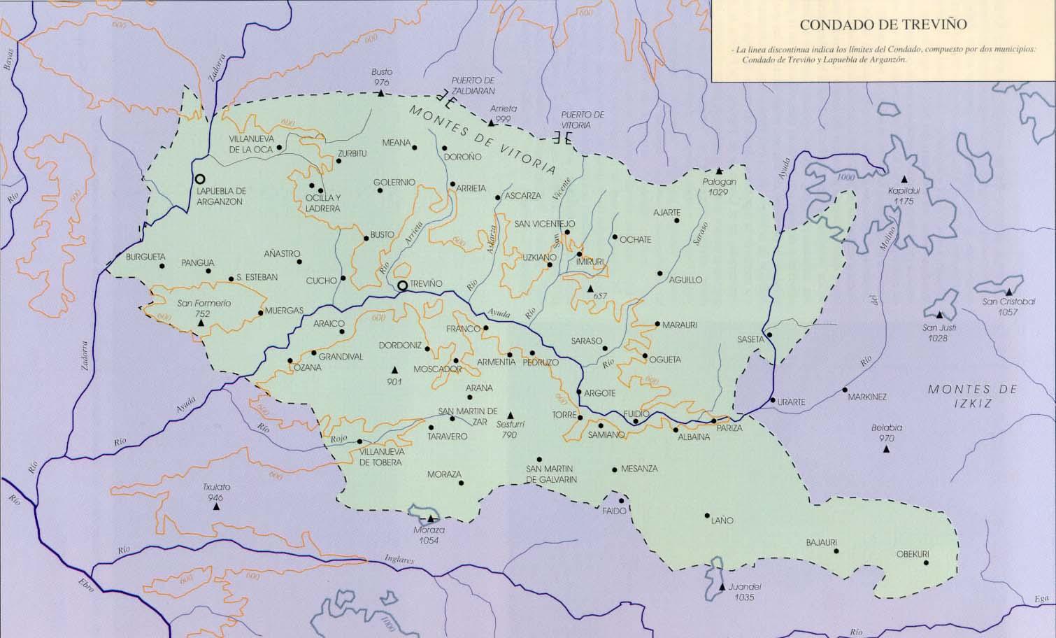 Condado De Treviño Mapa.Foto 47025701 Jpg Aunamendi Eusko Entziklopedia